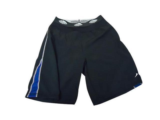 Long training short-Black/Blue-XL