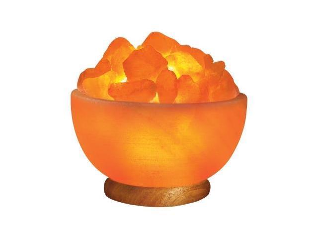 Himalayan Salt Crystal Fire Bowl Lamp – Medium (Aprox 7 Inch)