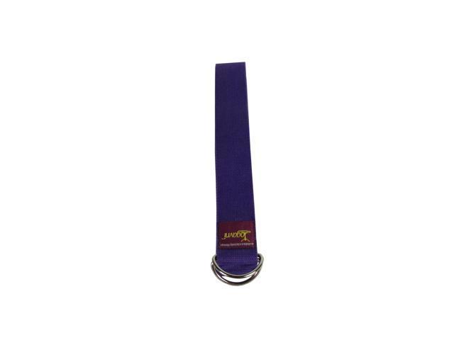 D-Ring Buckle Cotton Yoga Strap (Purple)