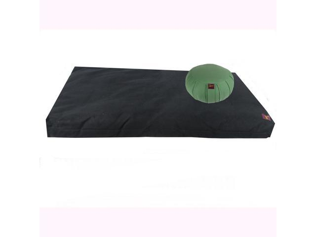 Meditation Kit (Round Zafu & Zabuton) (Black) (Sage)