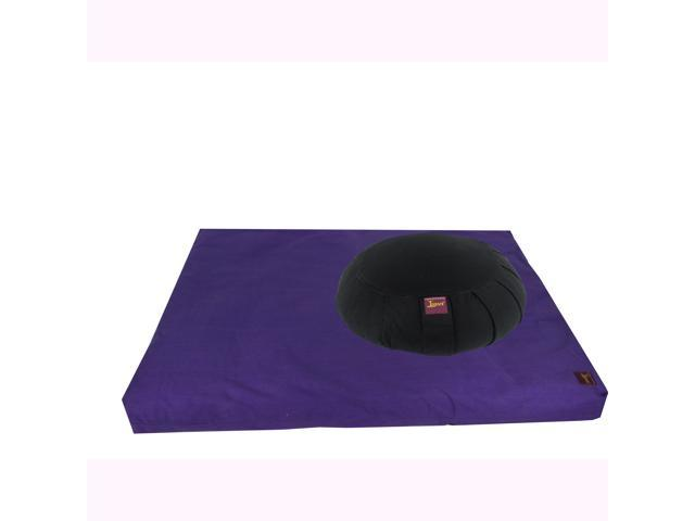 Meditation Kit (Round Zafu & Zabuton) (Purple) (Black)