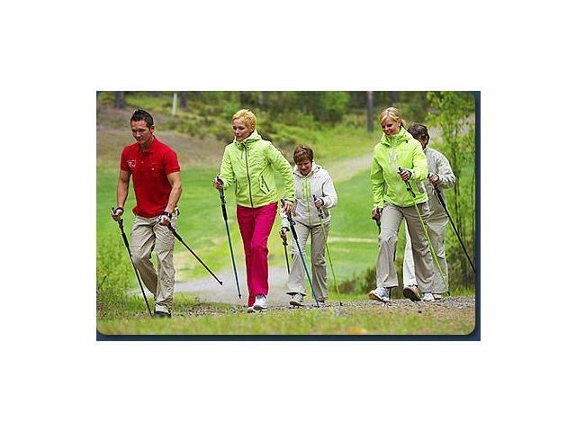 "Gymstickâ""¢ Nordic Walking Poles - Health-Black-125 cm"
