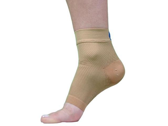 Yoga Compression Foot Sleeve-Natural-Medium