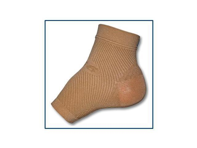 Yoga Compression Foot Sleeve-Natural-Large