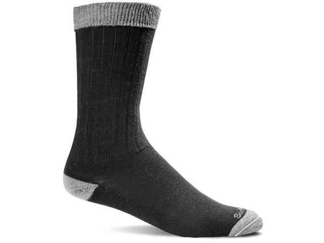 Men's Diabetic Friendly Socks-Black-Medium / Large