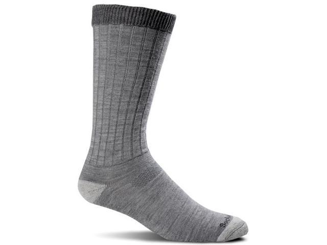 Men's Diabetic Friendly Socks-Gray-Large / Extra Large