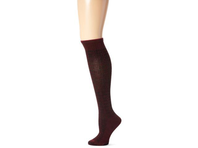 Women Graduated Compression Socks-Maroon-Small / Medium