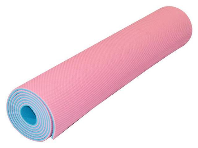 Best Sticky and Eco Yoga Mat TPE (Pink / Baby Blue)