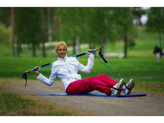 "Gymstickâ""¢ Nordic Walking Poles - Force-Black-130 cm"