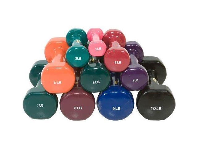 Vinyl Coated Dumbbells-5 LB