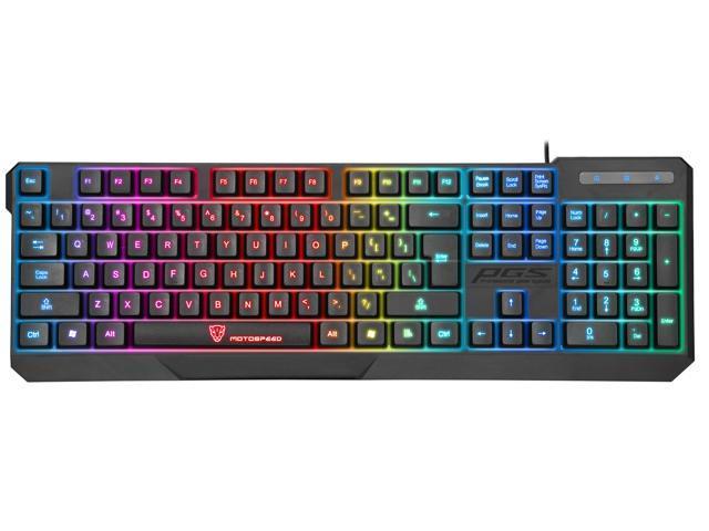 Motospeed K70L USB Wired Seven Color Backlit Gaming ...