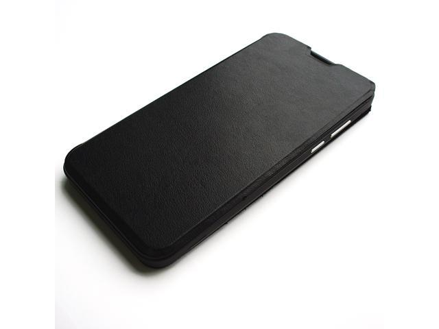 Dirt-resistant High Quality Leather Case Cover for RIV R55 - Black