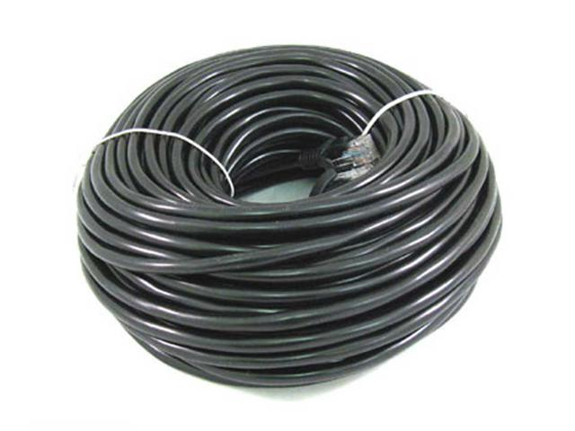 50ft rj45 cat5 cat5e ethernet lan network cable black brand new 15m. Black Bedroom Furniture Sets. Home Design Ideas