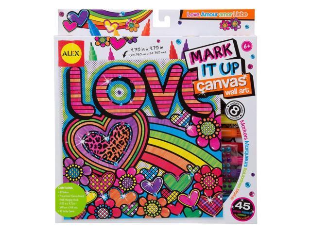 Mark It Up Canvas Wall Art-Love