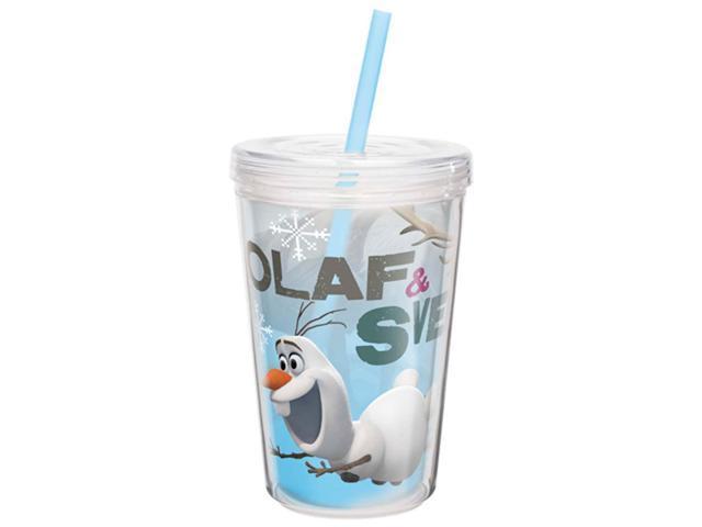 Disney Frozen 13oz Insulated Tumbler w/ Straw Olaf & Sven ZAK Designs FZNC-M951