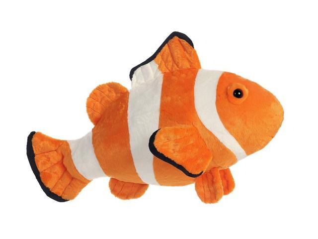 Clown fish super flopsie 27 inch stuffed animal by for Fish stuffed animal