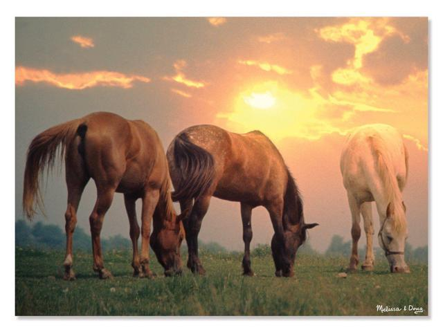 Melissa And Doug 8994 Sunrise Horses Cardboard Jigsaw Puzzle, 300 Pieces