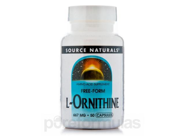 L-Ornithine 667 mg - 50 Capsules by Source Naturals