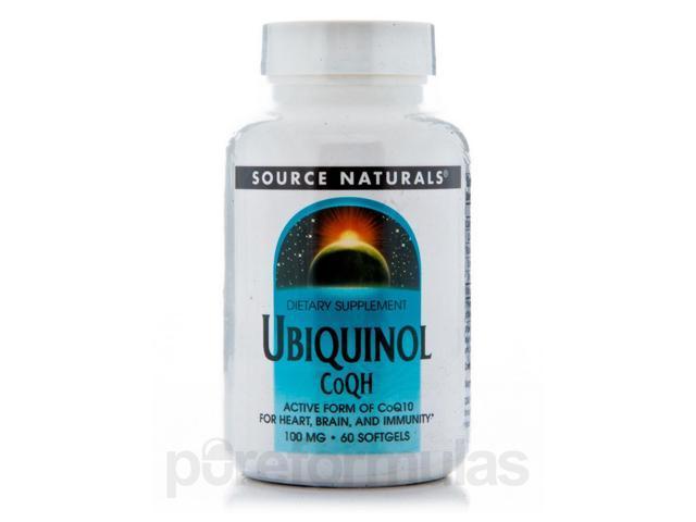 Ubiquinol CoQH 100 mg - 60 Softgels by Source Naturals