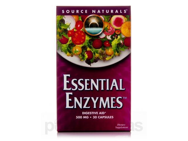 Essential Enzymes 500 mg - 30 Capsules by Source Naturals
