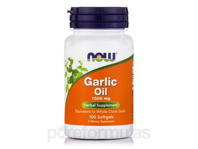 Garlic Oil 1500 mg - 100 Softgels by NOW