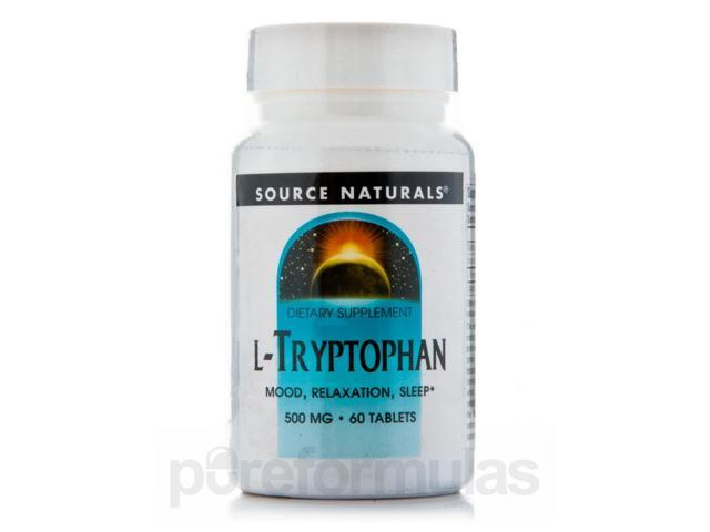 L-Tryptophan 500 mg - 60 Tablets by Source Naturals