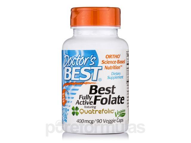 Fully Active Folate with Quatrefolic 400 mcg - 90 Veggie Capsules by Doctor's B