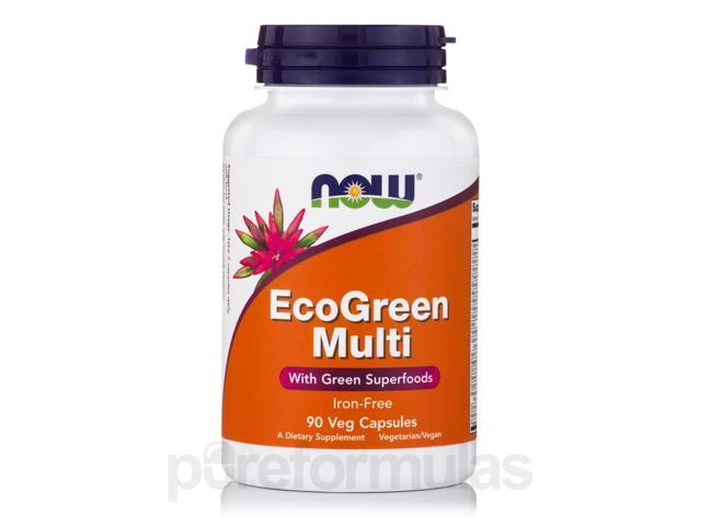 EcoGreen Multi Iron-Free - 90 Veg Capsules by NOW
