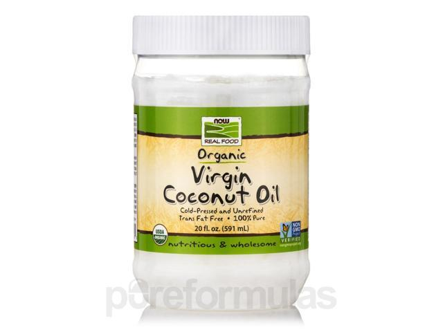 NOW Real Food - Virgin Coconut Oil (Certified Organic) - 20 fl. oz (591 ml) by
