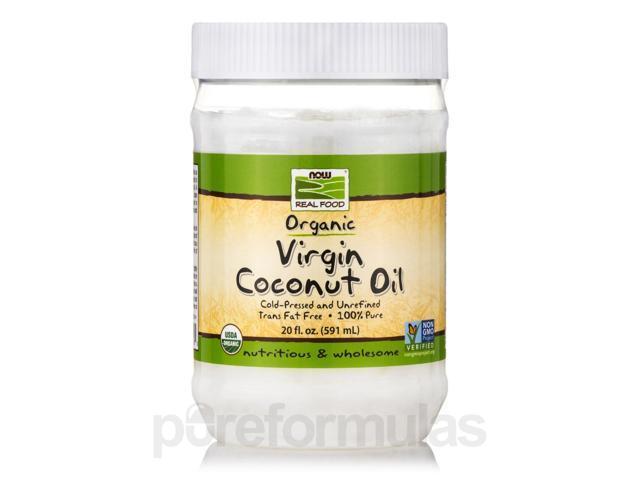NOW Real Food - Virgin Coconut Oil (Certified Organic) - 20 fl. oz (591 ml) by