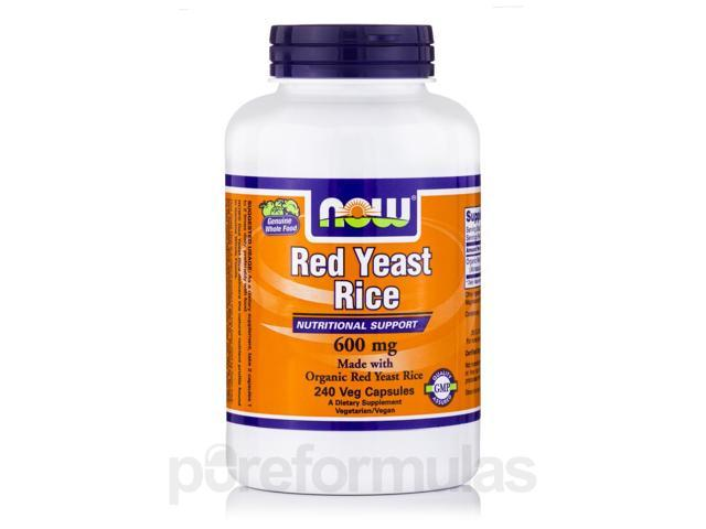 Red Yeast Rice 600 mg - 240 Veg Capsules by NOW