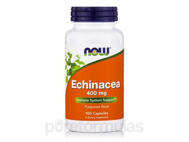 Echinacea 400 mg Purpurea Root - 100 Capsules by NOW
