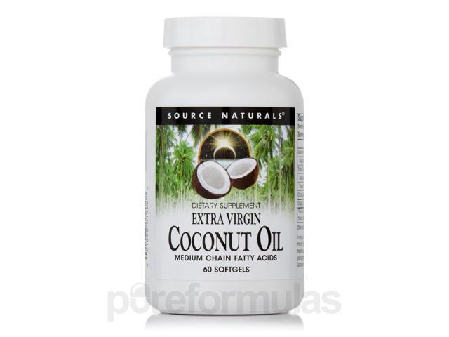 Extra Virgin Coconut Oil - 60 Softgels by Source Naturals