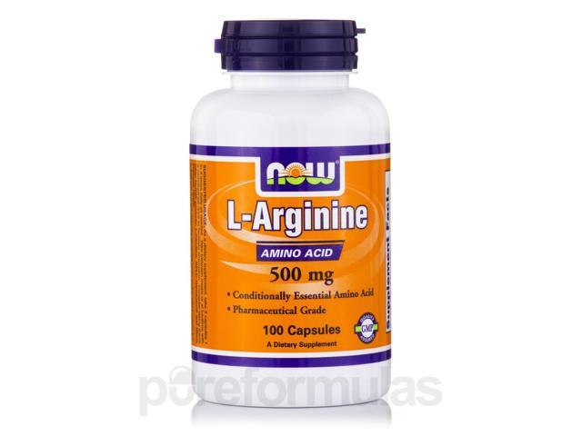 L-Arginine 500 mg - 100 Capsules by NOW