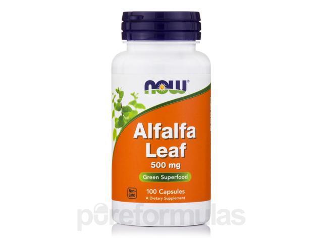 Alfalfa Leaf 500 mg - 100 Capsules by NOW