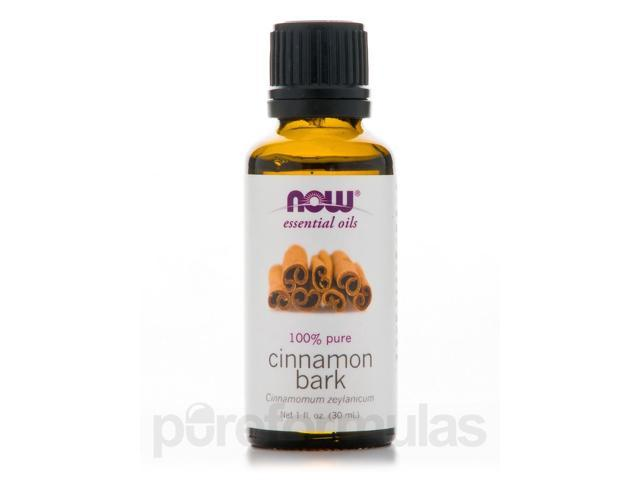 NOW Essential Oils - Cinnamon Bark Oil (100% Pure) - 1 fl. oz (30 ml) by NOW