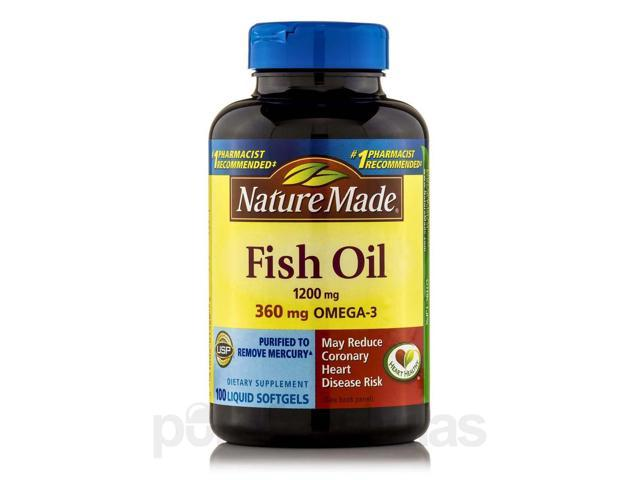 Fish Oil 1200 mg Omega-3 360 mg - 100 Softgels by Nature Made