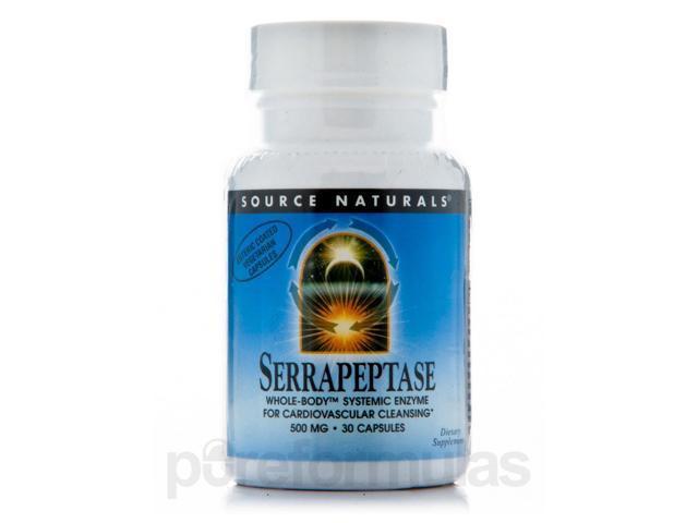 Serrapeptase 500 mg - 30 Vegetarian Capsules by Source Naturals