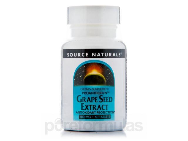 Proanthodyn Grapeseed 100 mg - 60 Tablets by Source Naturals