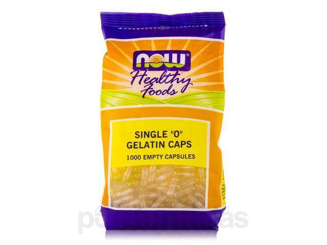"""Single """"0"""" Gelatin Caps - 1000 Empty Capsules by NOW"""