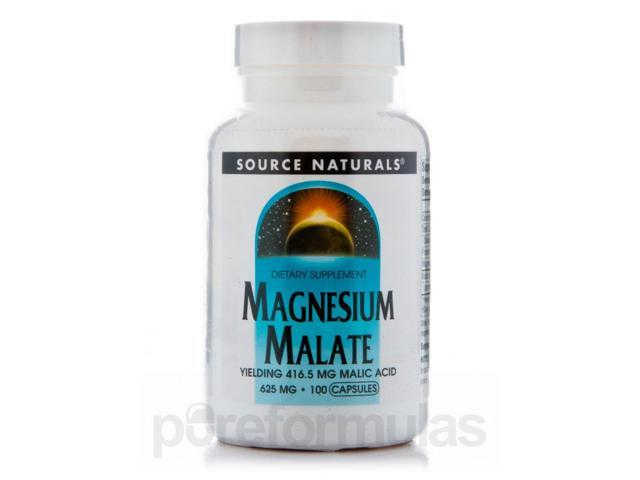 Magnesium Malate 625 mg - 100 Capsules by Source Naturals