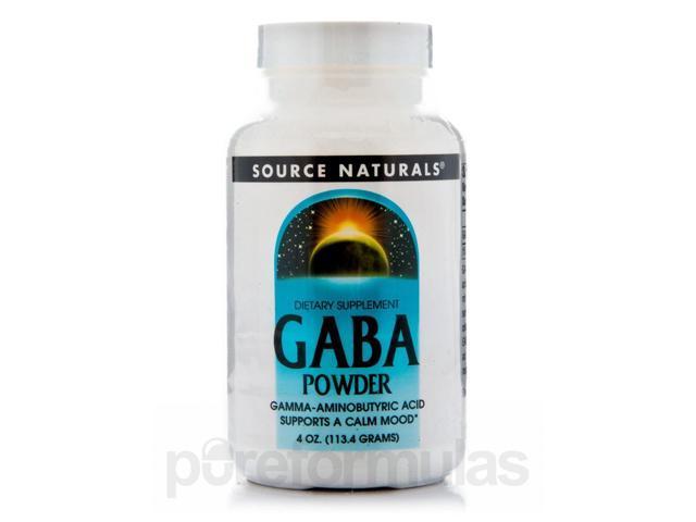 Gaba Powder - 4 oz (113.4 Grams) by Source Naturals