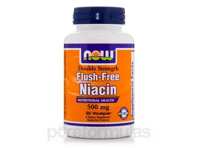Flush-Free Niacin 500 mg - 90 Veg Capsules by NOW