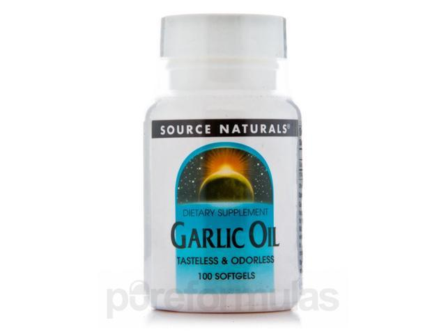 Garlic Oil - 100 Softgels by Source Naturals
