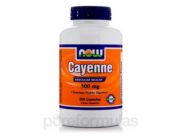 Cayenne 500 mg - 250 Capsules by NOW