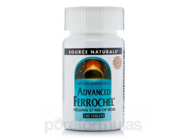 Advanced Ferrochel 27 mg - 180 Tablets by Source Naturals