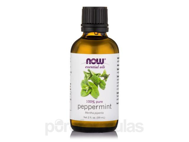 NOW Essential Oils - Peppermint Oil - 2 fl. oz (59 ml) by NOW