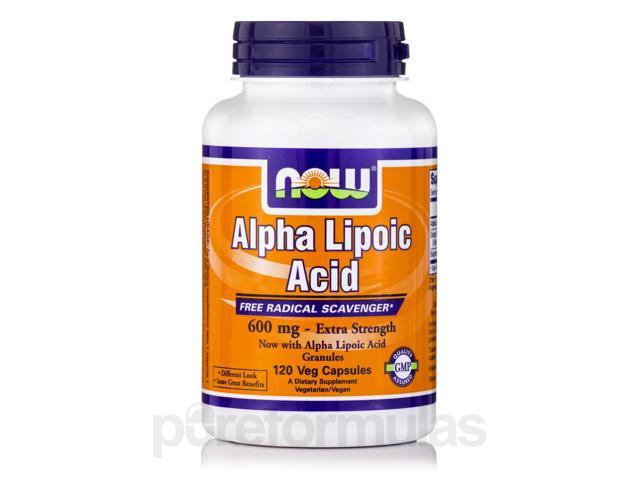 Alpha Lipoic Acid 600 mg (Extra Strength) - 120 Veg Capsules by NOW