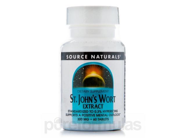 St. John's Wort Extract 300 mg - 60 Tablets by Source Naturals