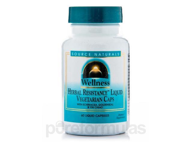 Wellness Herbal Resistance - 60 Vegetarian Capsules by Source Naturals